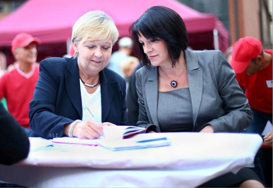 Hannelore Kraft und Heidi Ankner